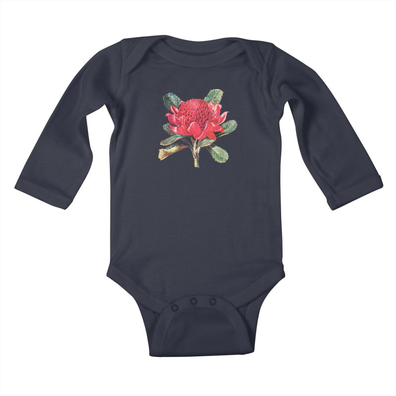Going Red Kids Baby Longsleeve Bodysuit by Wild Roots Artist Shop