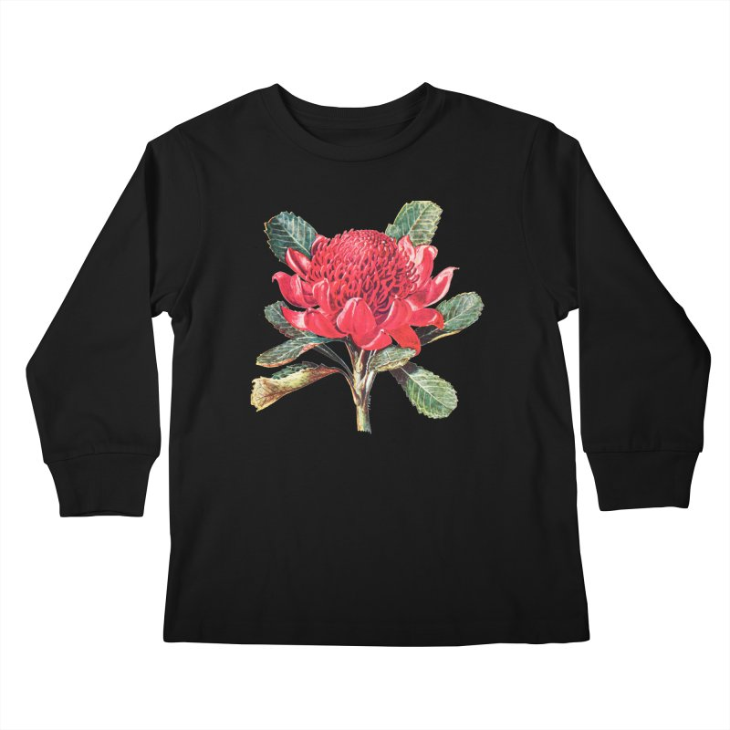 Going Red Kids Longsleeve T-Shirt by Wild Roots Artist Shop