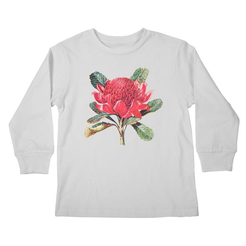 Going Red Kids Longsleeve T-Shirt by Wild Roots Artist Shop