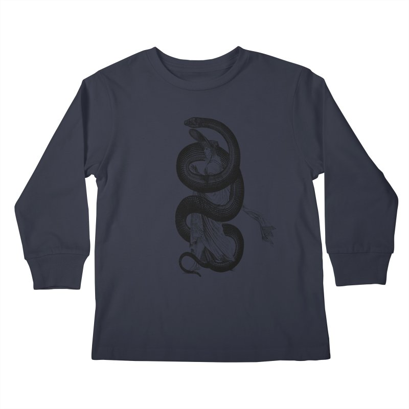 Wrapped Up In Reptilian Kids Longsleeve T-Shirt by Wild Roots Artist Shop