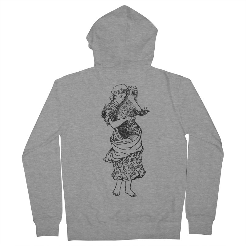Warts and All Women's Zip-Up Hoody by Wild Roots Artist Shop