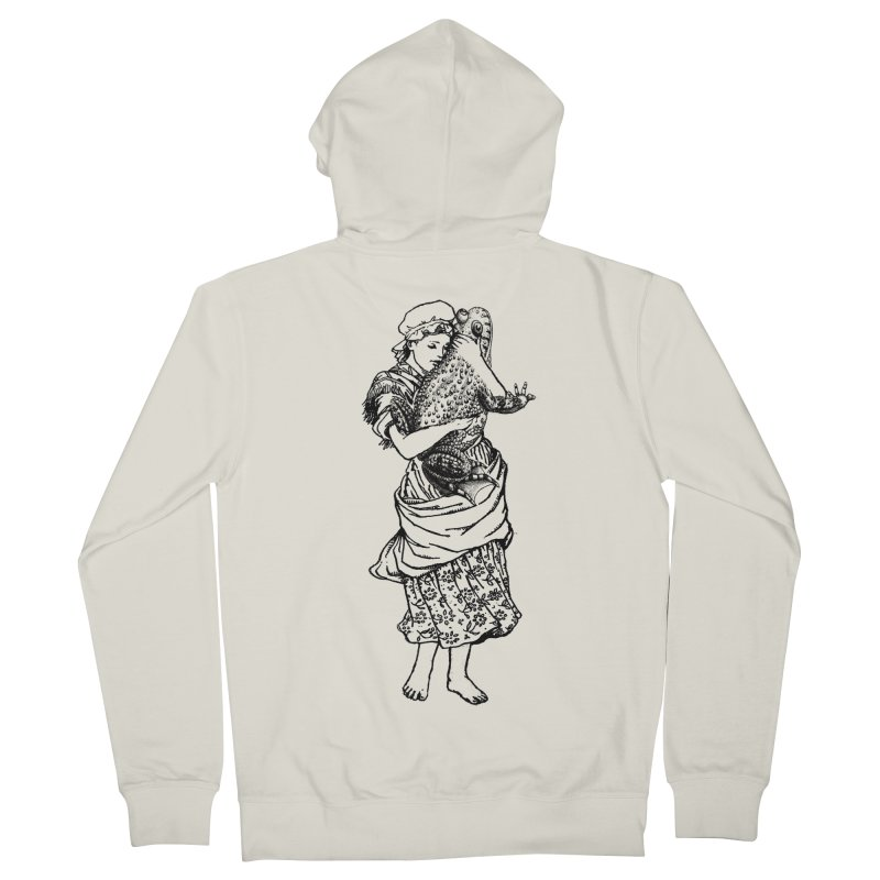 Warts and All Men's Zip-Up Hoody by Wild Roots Artist Shop