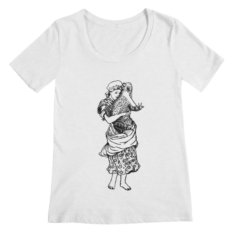 Warts and All Women's Scoopneck by Wild Roots Artist Shop