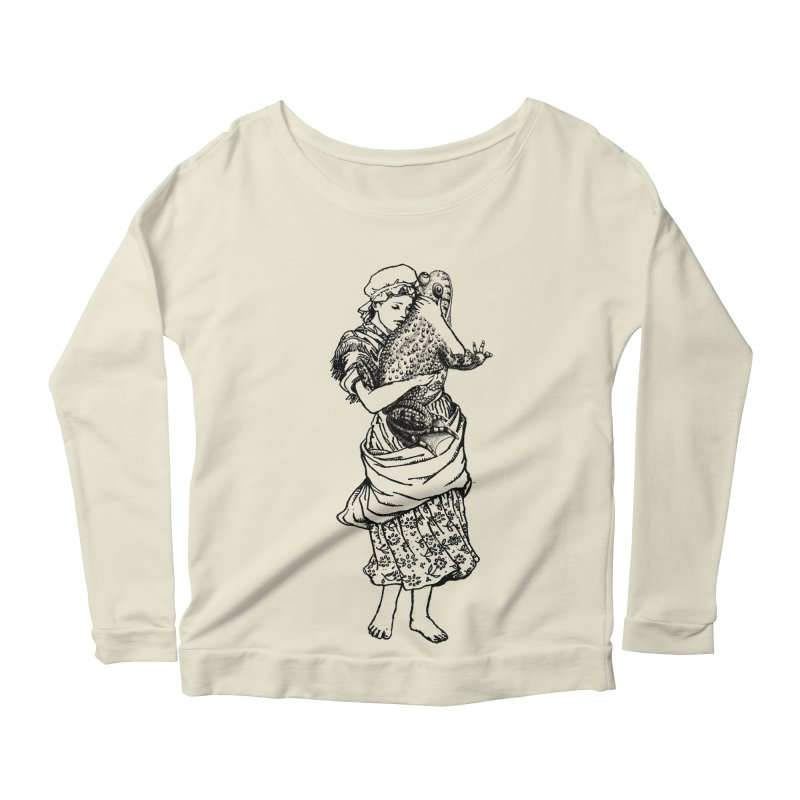 Warts and All Women's Longsleeve Scoopneck  by Wild Roots Artist Shop