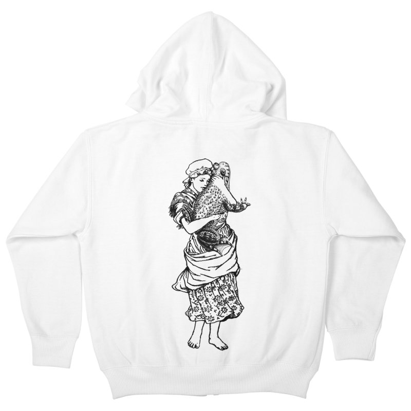 Warts and All Kids Zip-Up Hoody by Wild Roots Artist Shop