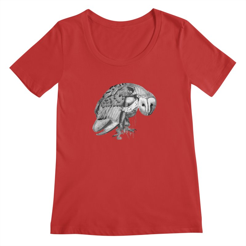 These Eyes Women's Scoopneck by Wild Roots Artist Shop