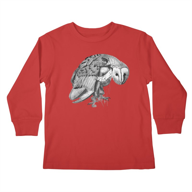 These Eyes Kids Longsleeve T-Shirt by Wild Roots Artist Shop