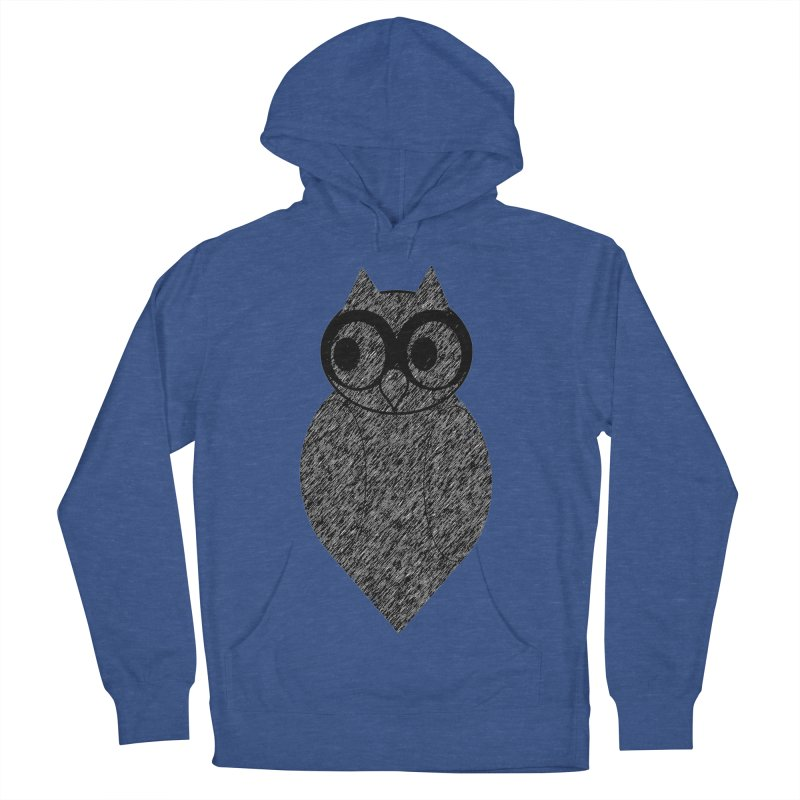Hoot Men's French Terry Pullover Hoody by Wild Roots Artist Shop