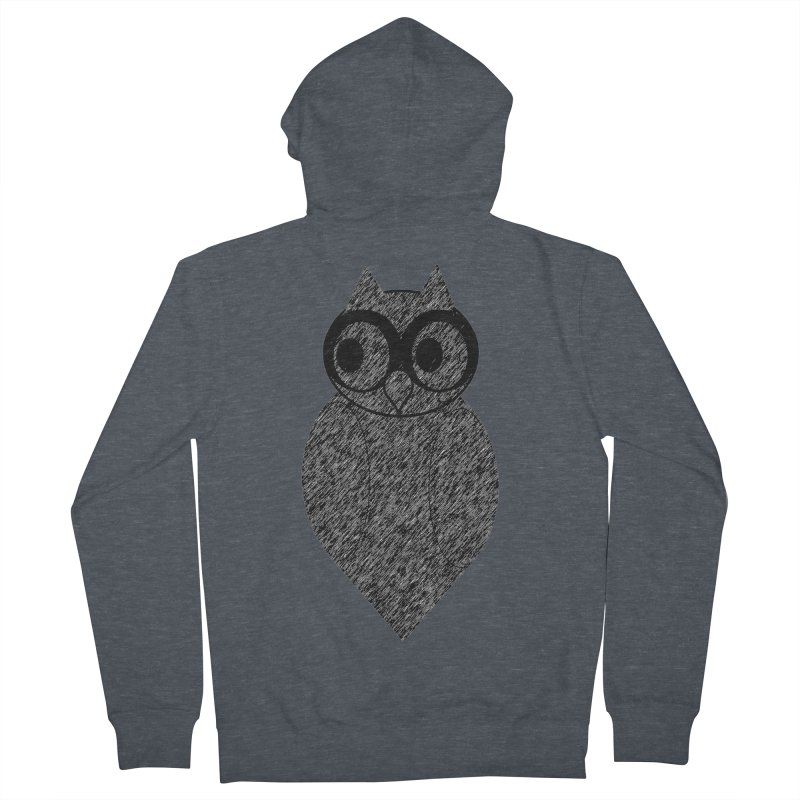 Hoot Women's French Terry Zip-Up Hoody by Wild Roots Artist Shop