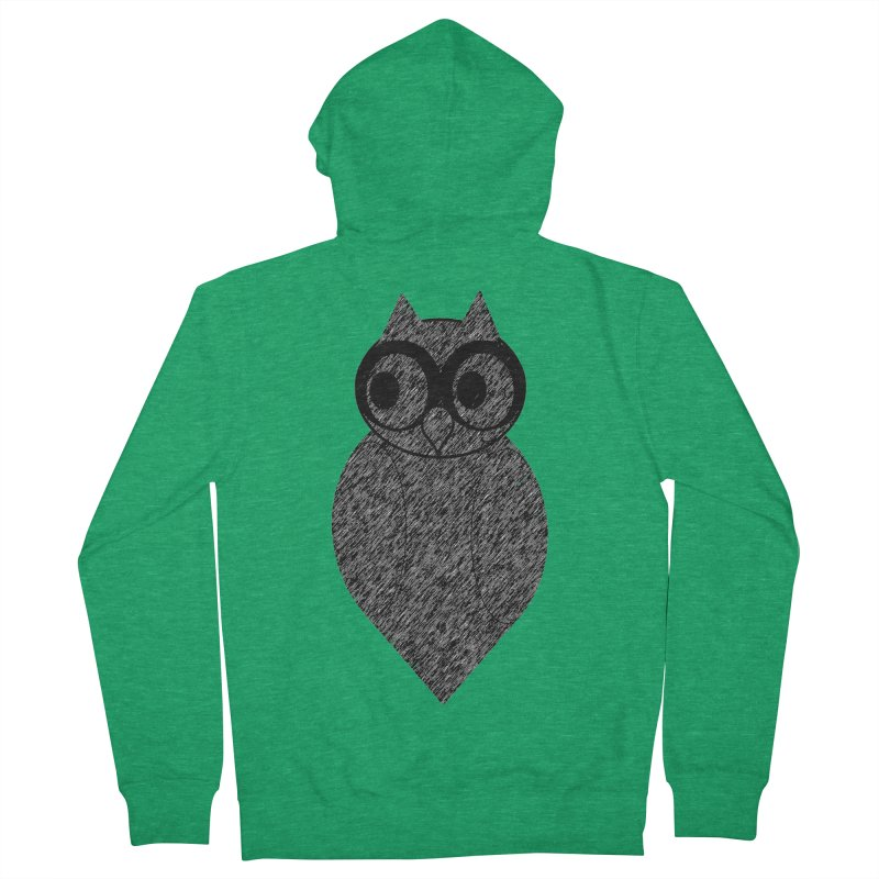 Hoot Men's Zip-Up Hoody by Wild Roots Artist Shop