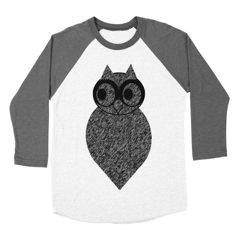 Hoot Women's Baseball Triblend T-Shirt by Wild Roots Artist Shop