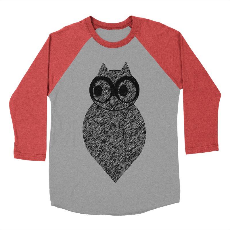 Hoot Men's Baseball Triblend T-Shirt by Wild Roots Artist Shop