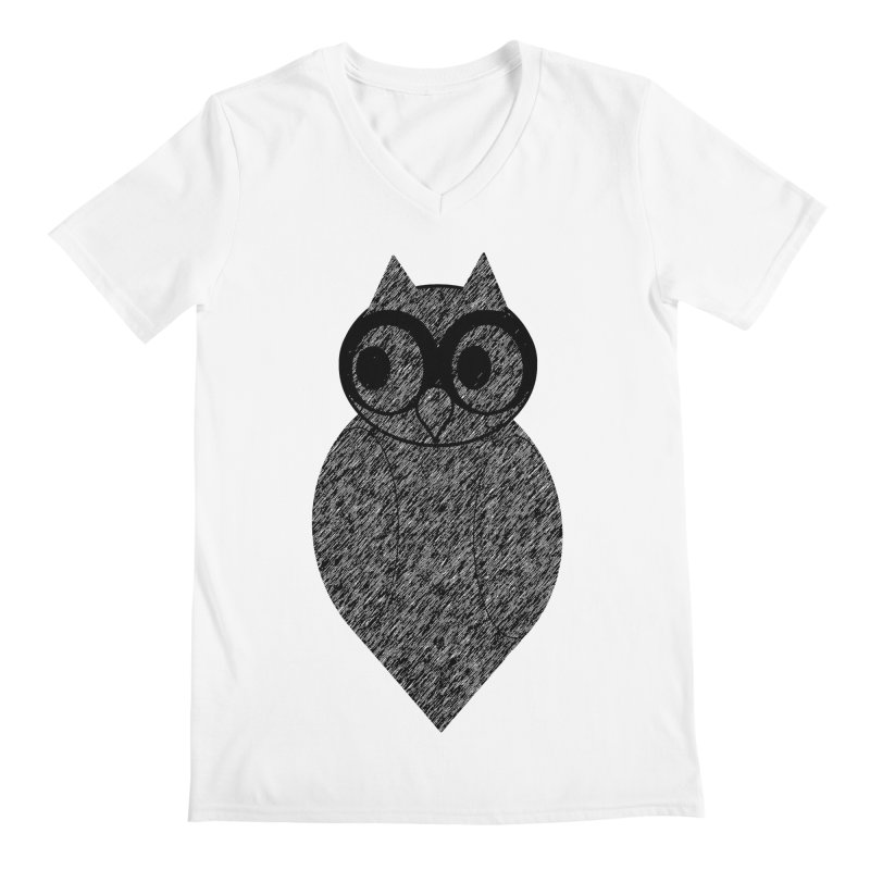 Hoot Men's V-Neck by Wild Roots Artist Shop