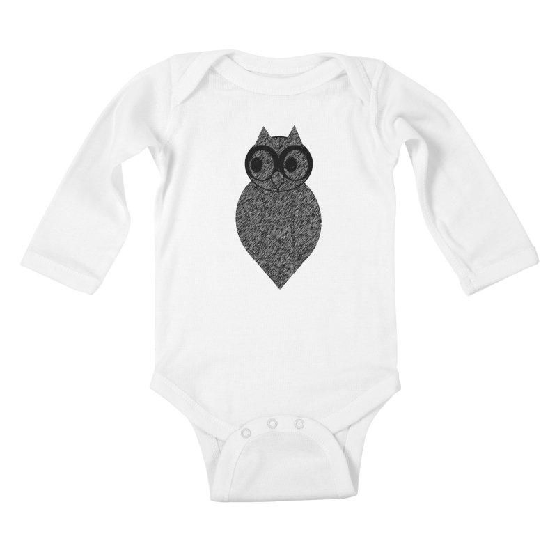 Hoot Kids Baby Longsleeve Bodysuit by Wild Roots Artist Shop