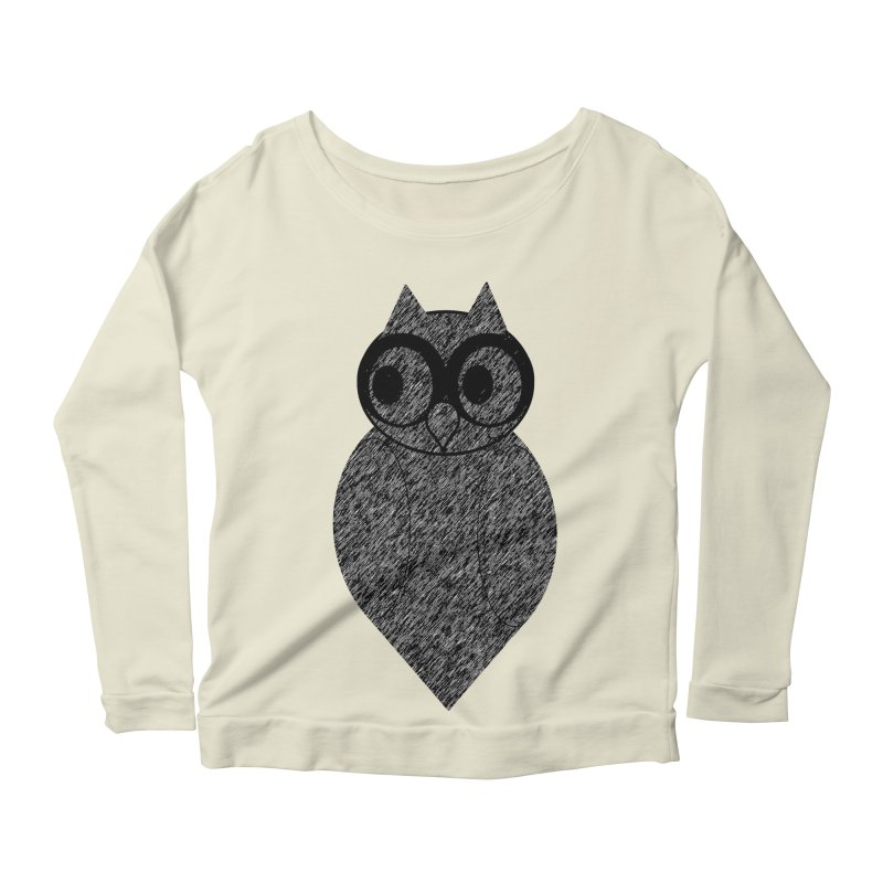 Hoot Women's Scoop Neck Longsleeve T-Shirt by Wild Roots Artist Shop