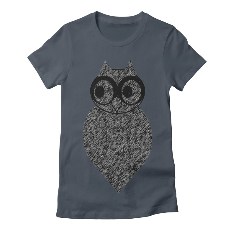 Hoot Women's Fitted T-Shirt by Wild Roots Artist Shop