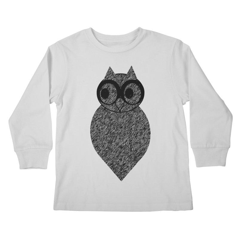 Hoot Kids Longsleeve T-Shirt by Wild Roots Artist Shop