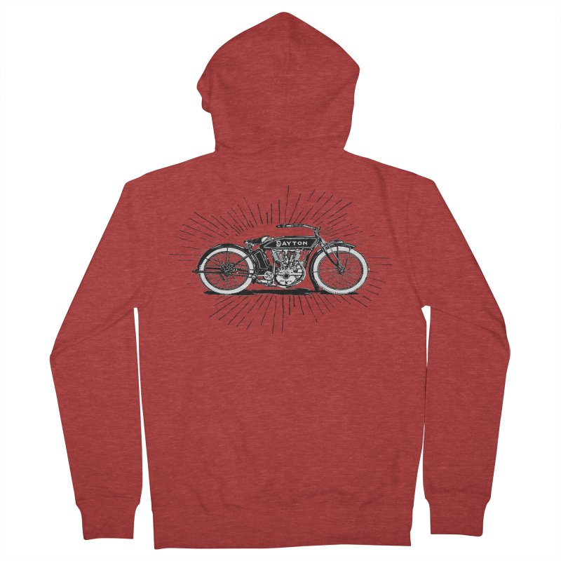 Ready To Roost Men's French Terry Zip-Up Hoody by Wild Roots Artist Shop