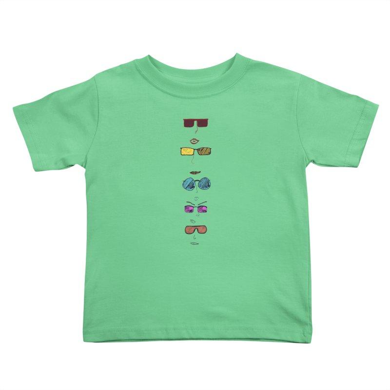 Sunglasses  Kids Toddler T-Shirt by Wild Roots Artist Shop