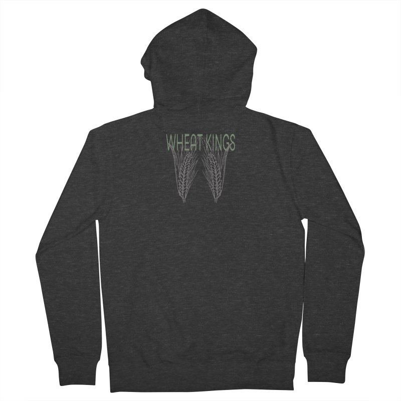 Wheat Kings Women's French Terry Zip-Up Hoody by Wild Roots Artist Shop