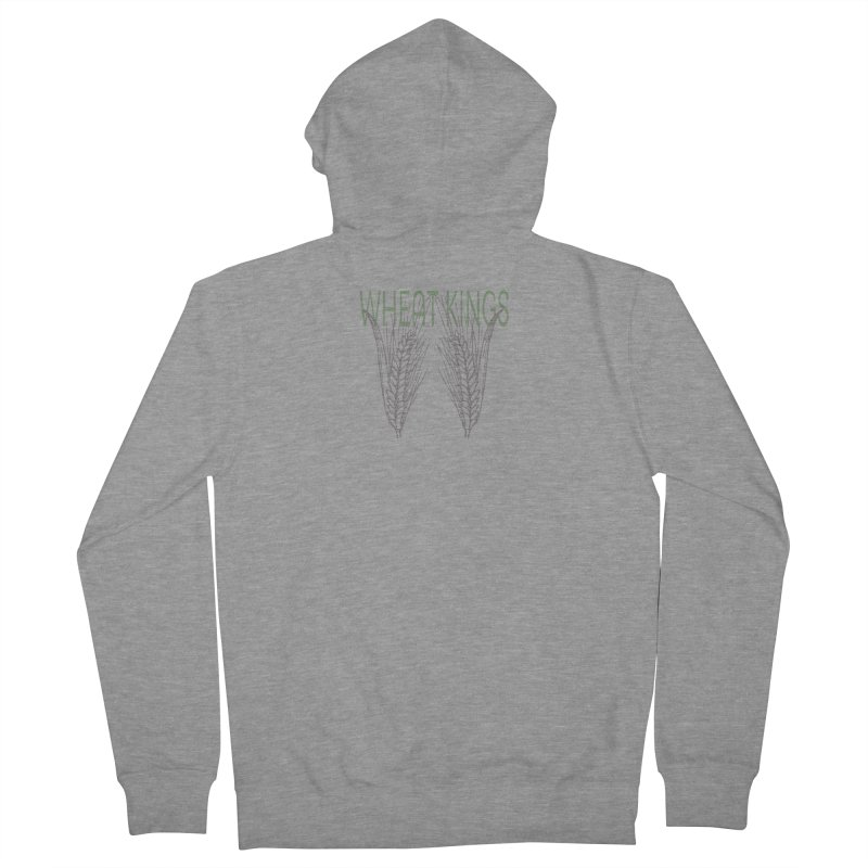 Wheat Kings Men's French Terry Zip-Up Hoody by Wild Roots Artist Shop