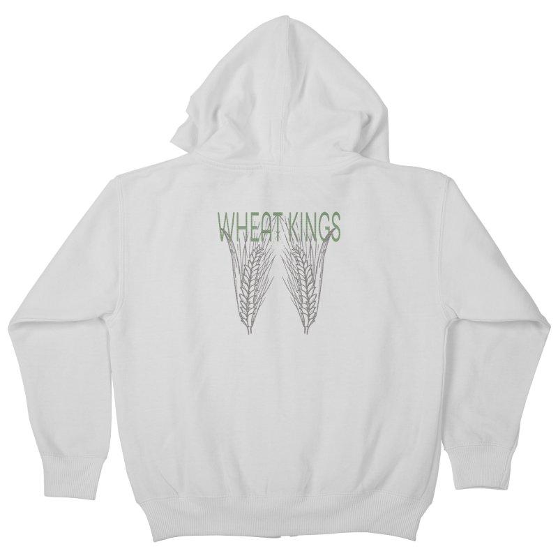 Wheat Kings Kids Zip-Up Hoody by Wild Roots Artist Shop