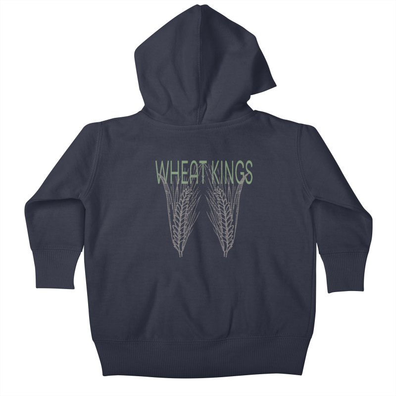Wheat Kings Kids Baby Zip-Up Hoody by Wild Roots Artist Shop