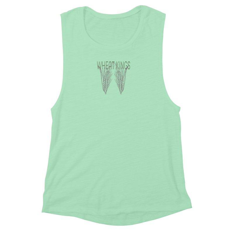 Wheat Kings Women's Muscle Tank by Wild Roots Artist Shop