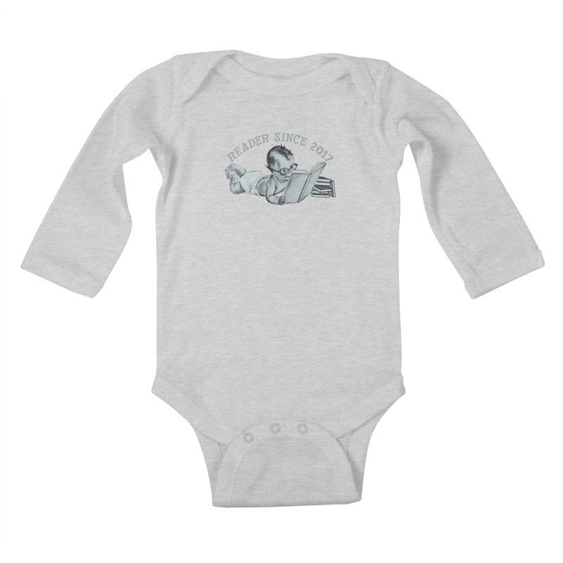 Future Reader Kids Baby Longsleeve Bodysuit by Wild Roots Artist Shop