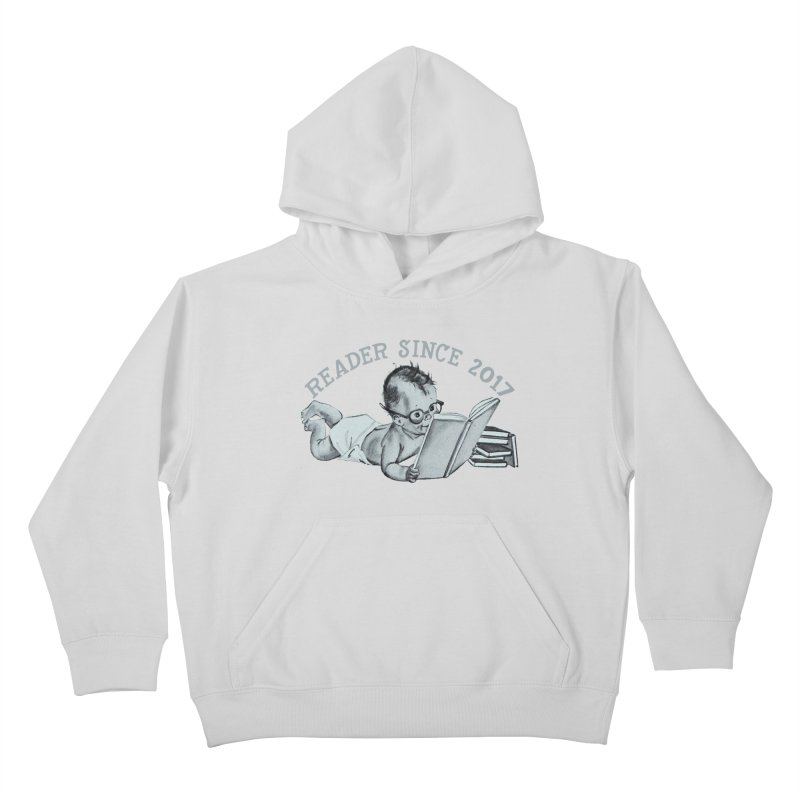 Future Reader Kids Pullover Hoody by Wild Roots Artist Shop