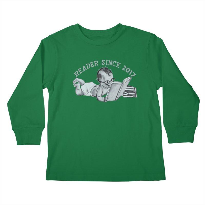 Future Reader Kids Longsleeve T-Shirt by Wild Roots Artist Shop
