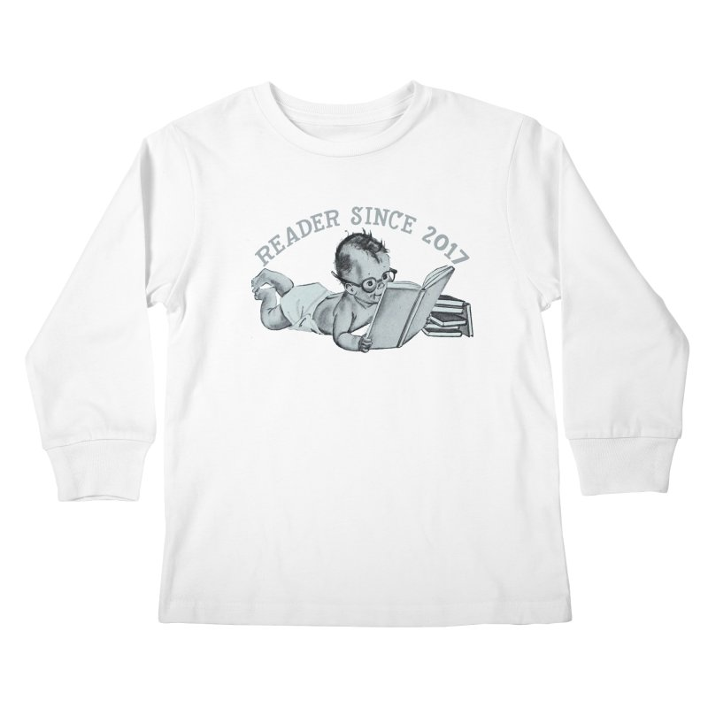 Future Reader Kids Longsleeve T-Shirt by Wild Roots Artist Shop