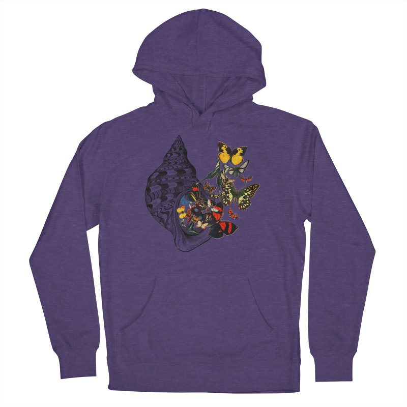 Beauty Within Men's French Terry Pullover Hoody by Wild Roots Artist Shop