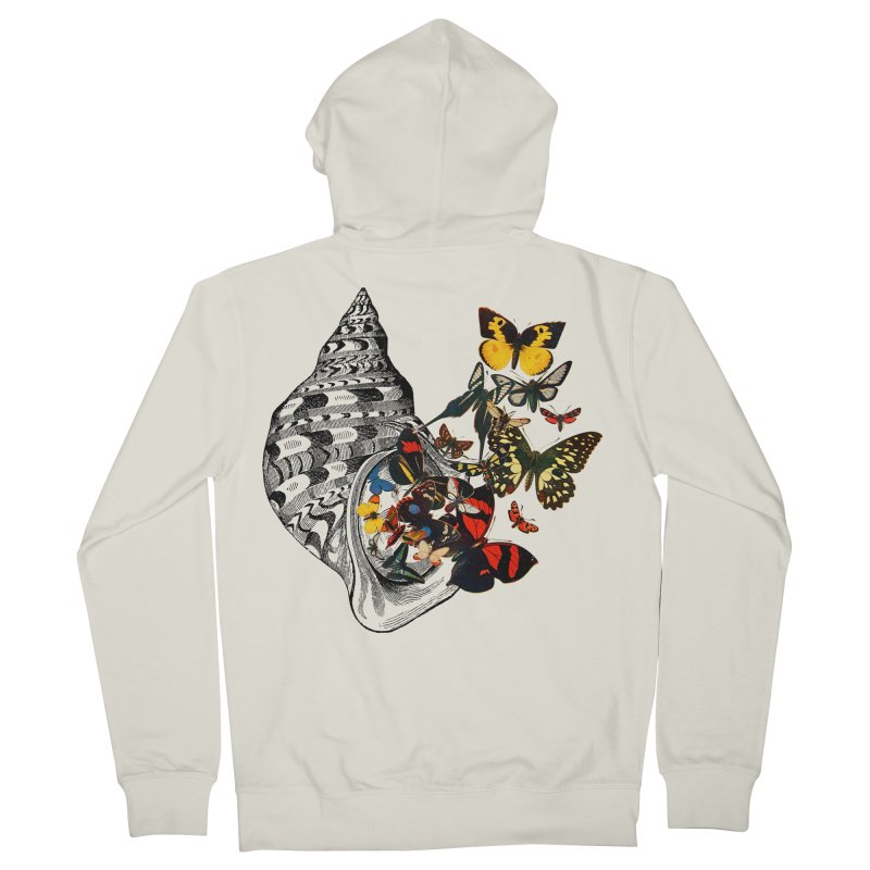 Beauty Within Men's French Terry Zip-Up Hoody by Wild Roots Artist Shop