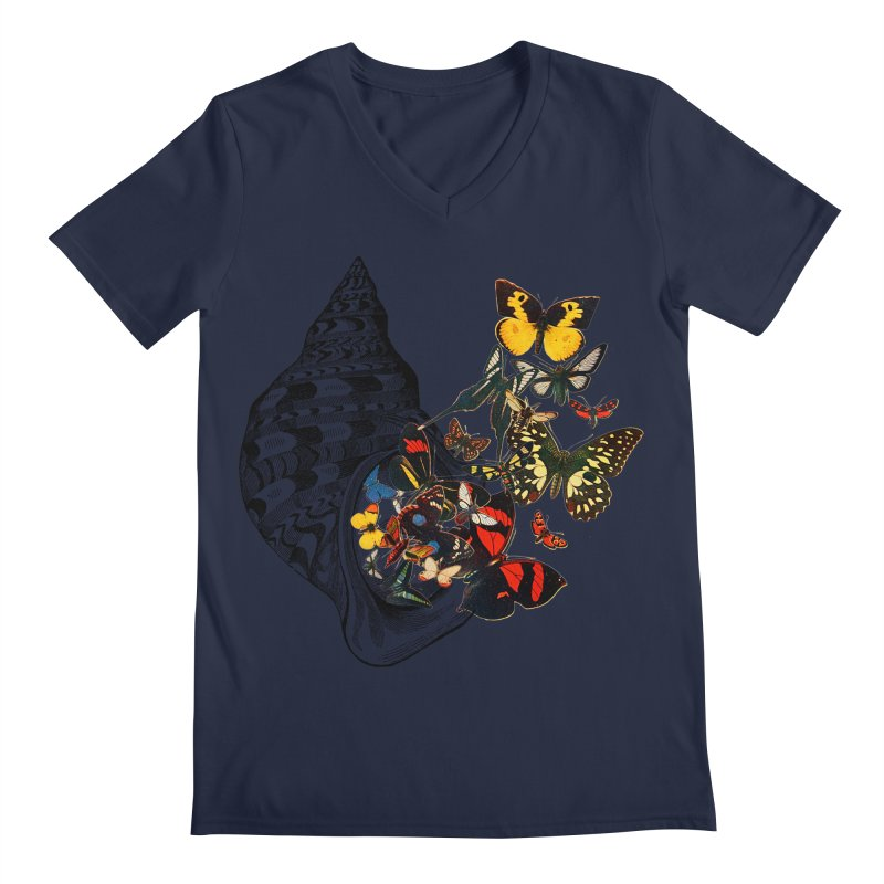Beauty Within Men's Regular V-Neck by Wild Roots Artist Shop