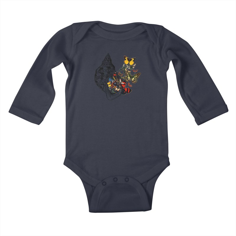 Beauty Within Kids Baby Longsleeve Bodysuit by Wild Roots Artist Shop