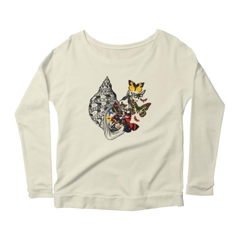 Beauty Within Women's Scoop Neck Longsleeve T-Shirt by Wild Roots Artist Shop