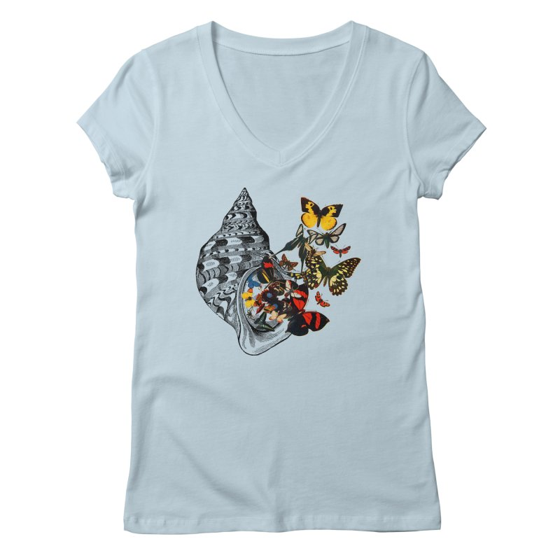Beauty Within Women's V-Neck by Wild Roots Artist Shop