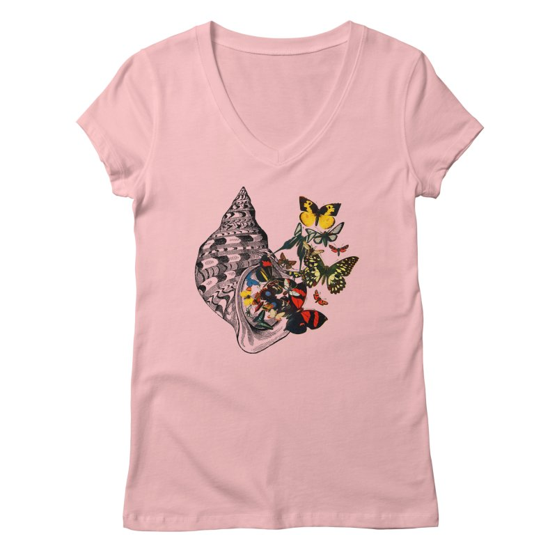 Beauty Within Women's Regular V-Neck by Wild Roots Artist Shop