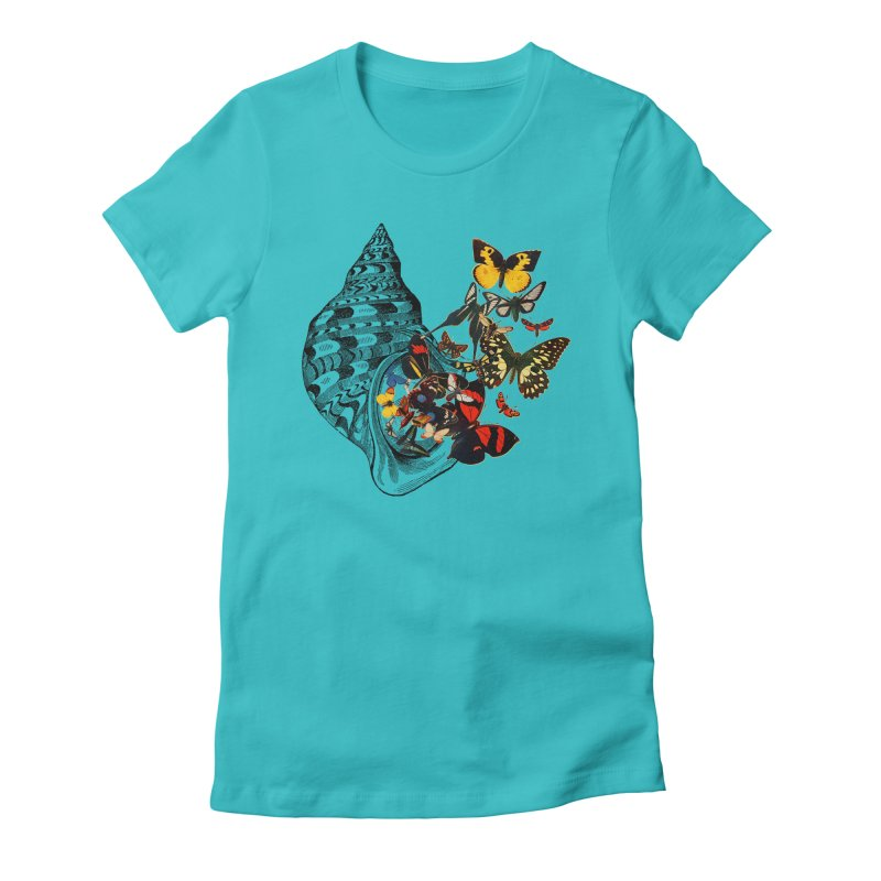 Beauty Within Women's Fitted T-Shirt by Wild Roots Artist Shop