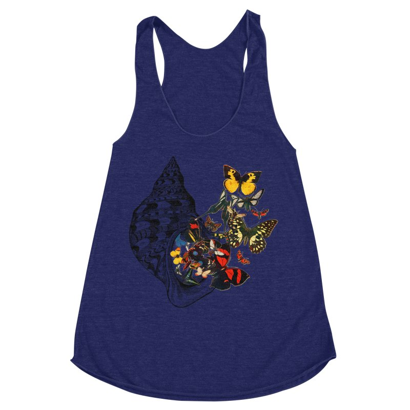 Beauty Within Women's Racerback Triblend Tank by Wild Roots Artist Shop
