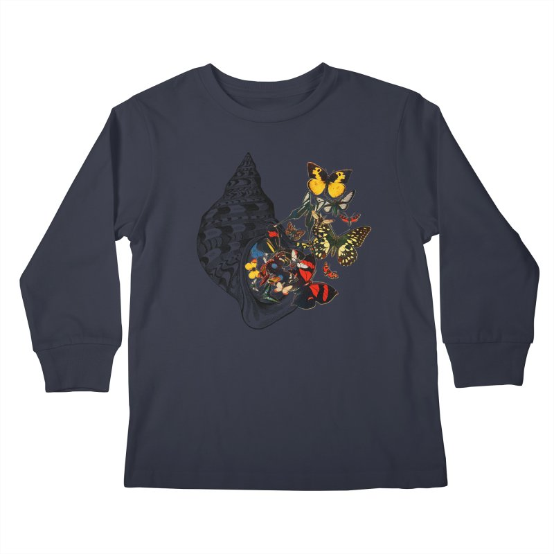 Beauty Within Kids Longsleeve T-Shirt by Wild Roots Artist Shop