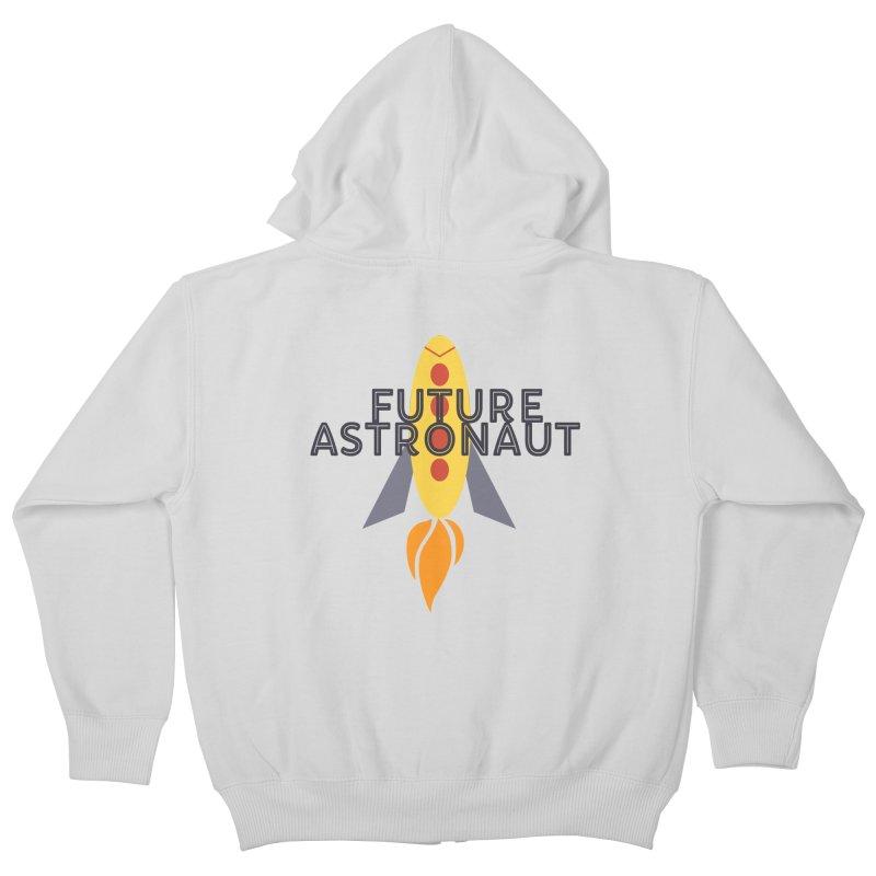 Future Astronaut Kids Zip-Up Hoody by Wild Roots Artist Shop