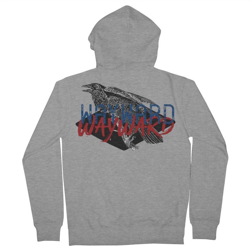 Wayward Men's French Terry Zip-Up Hoody by Wild Roots Artist Shop