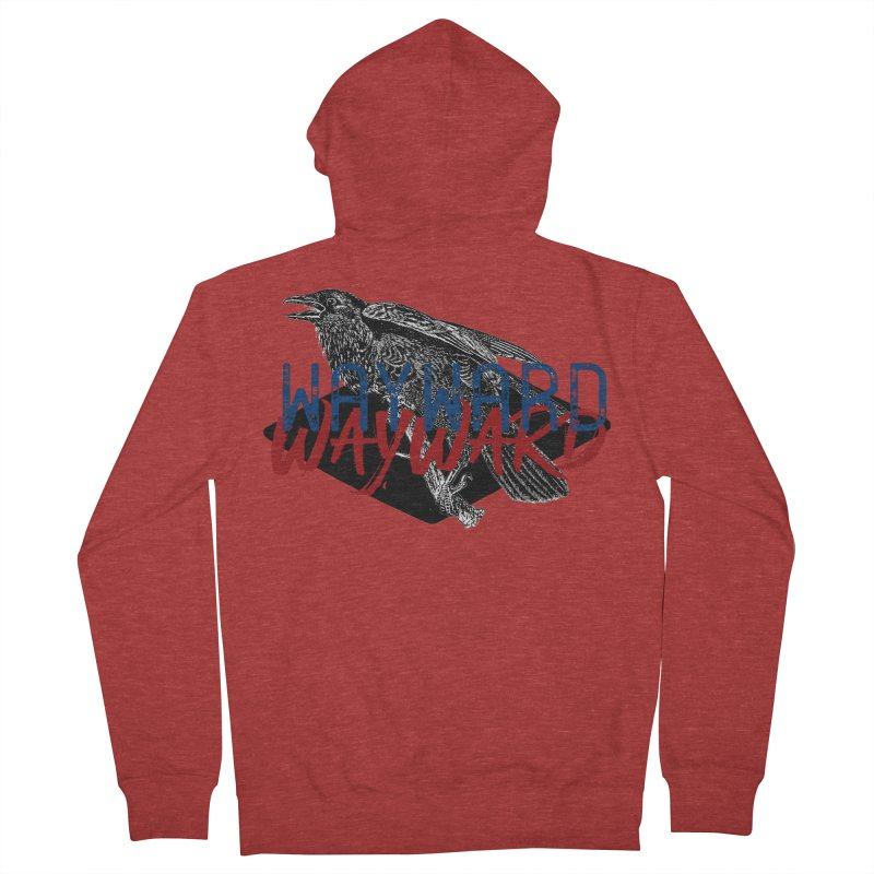 Wayward Men's French Terry Zip-Up Hoody by Wild Roots Artist Shop