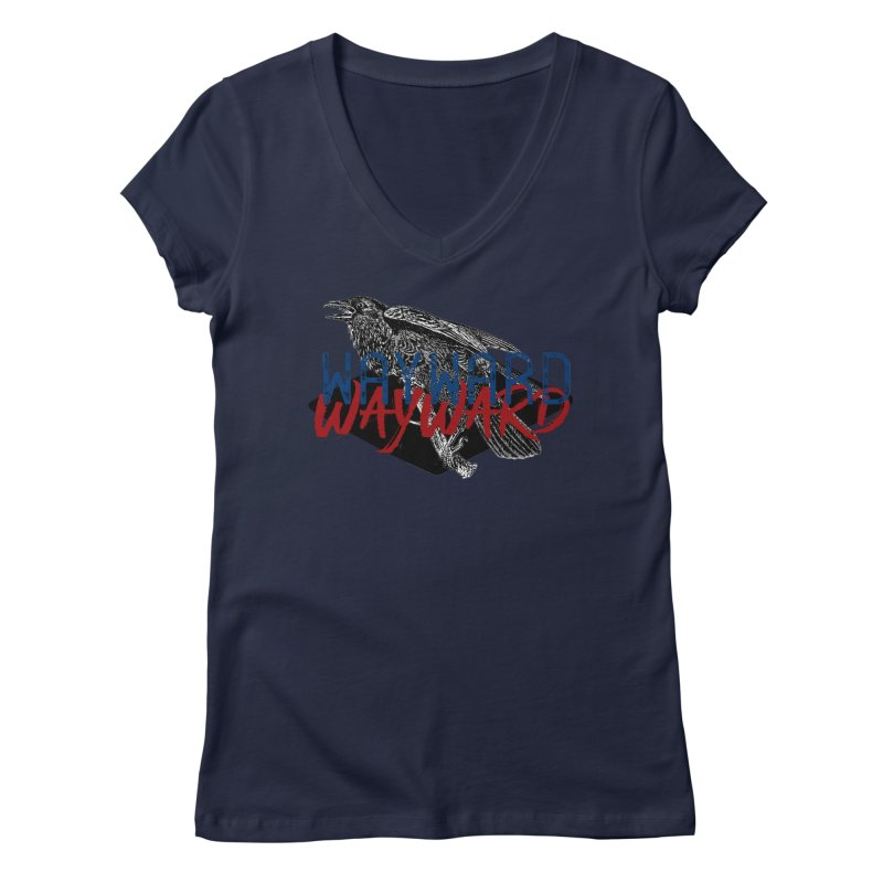 Wayward Women's Regular V-Neck by Wild Roots Artist Shop