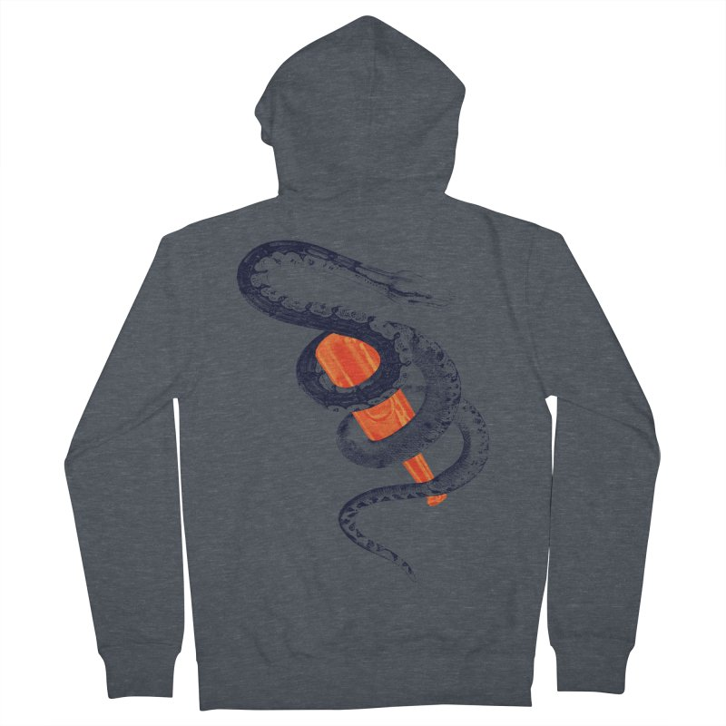 Drinking Buddy Version 2.0 Men's French Terry Zip-Up Hoody by Wild Roots Artist Shop