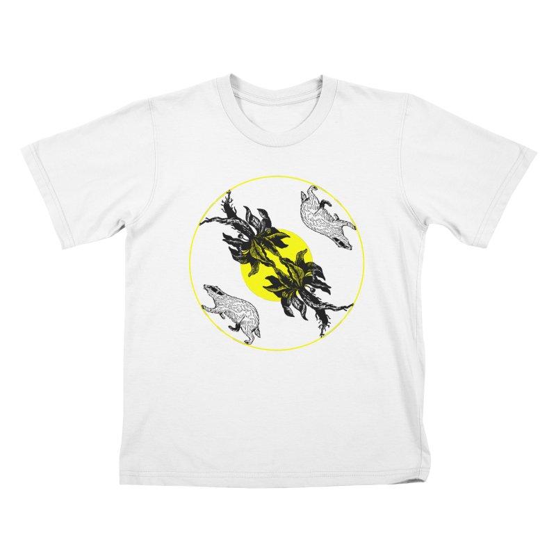 Hufflepuff House Kids T-Shirt by Wild Roots Artist Shop