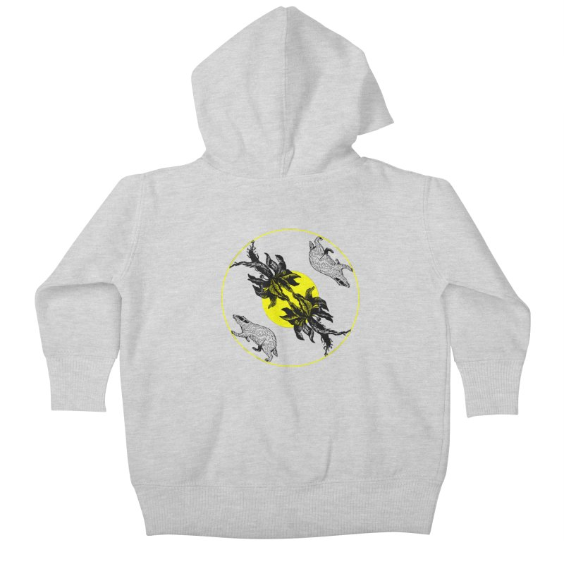 Hufflepuff House Kids Baby Zip-Up Hoody by Wild Roots Artist Shop