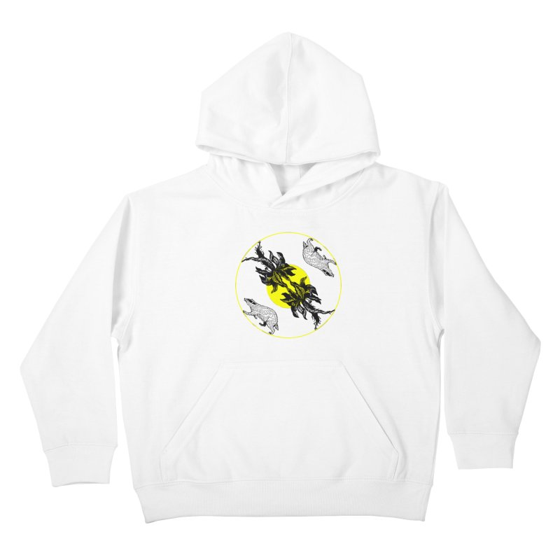 Hufflepuff House Kids Pullover Hoody by Wild Roots Artist Shop